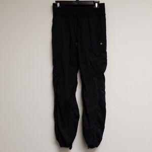 Lululemon Athletica Black Tie Front Joggers Pants